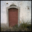 Door of a dilapidated Portuguese house